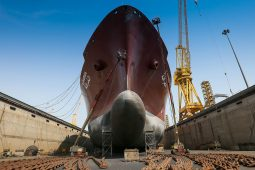 LNG carrier drydocked at N-KOM