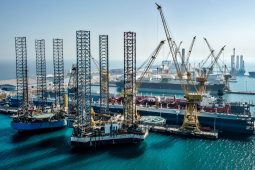 Jack-up rigs undergoing repairs at N-KOM